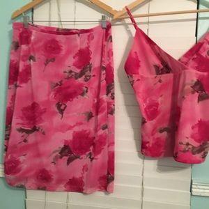 Express  set of top & skirt (skirt 25in 63cm long